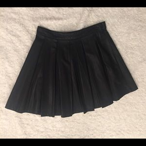 Faux leather Accordion Skirt